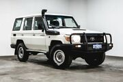 2012 Toyota Landcruiser VDJ76R MY10 Workmate White 5 Speed Manual Wagon Welshpool Canning Area Preview