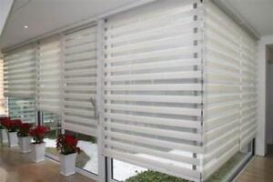 BEST PRICE GUARANTEE!!! WINDOW COVERING, ZEBRA BLINDS, ROLLER SHADES, VERTICAL, VINYL. EUROPEAN QUALITY, ON SALE NOW!.