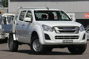 2017 Isuzu D-MAX TF MY17 SX (4x4) Splash White 6 Speed Automatic Cab Chassis Wolli Creek Rockdale Area Preview