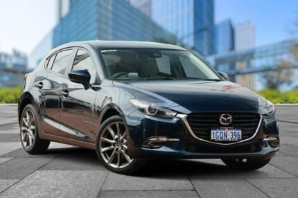 2017 Mazda 3 BN5438 SP25 SKYACTIV-Drive Astina Blue 6 Speed Sports Automatic Hatchback Myaree Melville Area Preview