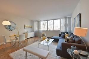 Enjoy The Views In Your 2½ on Ave Des Pins! Gym and pool