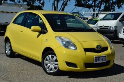 2010 Toyota Yaris NCP90R MY10 YR Yellow 5 Speed Manual Hatchback Pearsall Wanneroo Area Preview