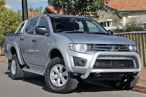 2010 Mitsubishi Triton MN MY11 GL-R Double Cab Silver 4 Speed Automatic Utility Glenelg Holdfast Bay Preview
