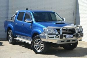 2013 Toyota Hilux KUN26R MY12 SR5 Double Cab Blue 4 Speed Automatic Utility Midland Swan Area Preview