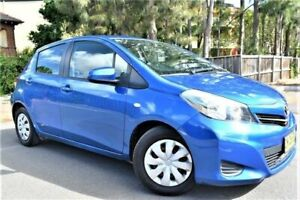 2011 Toyota Yaris NCP130R YR Blue Mica Metallic 4 Speed Automatic Hatchback Five Dock Canada Bay Area Preview