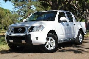 2013 Nissan Navara D40 S6 MY12 ST White 5 Speed Sports Automatic Utility Hawthorn Mitcham Area Preview