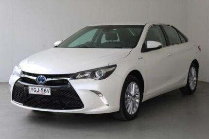 2016 Toyota Camry AVV50R Atara SL Crystal Pearl 1 Speed Constant Variable Sedan Hybrid
