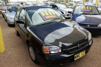2000 Suzuki Baleno SY416 GL Black 4 Speed Automatic Hatchback Colyton Penrith Area Preview