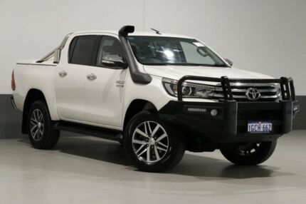 2016 Toyota Hilux GUN126R SR5 (4x4) White 6 Speed Automatic Dual Cab Utility Bentley Canning Area Preview
