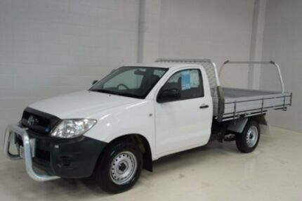 2010 Toyota Hilux TGN16R MY10 Workmate White 5 Speed Manual Cab Chassis Toowoomba Toowoomba City Preview