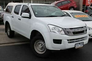2013 Isuzu D-MAX MY12 SX Crew Cab High Ride White 5 Speed Sports Automatic Utility Cheltenham Kingston Area Preview