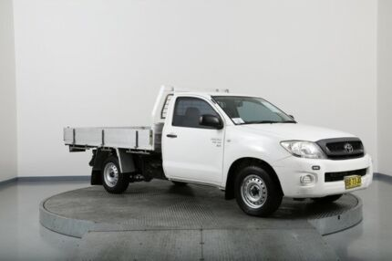 2009 Toyota Hilux GGN15R 08 Upgrade SR White 5 Speed Automatic Cab Chassis Old Guildford Fairfield Area Preview