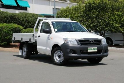 2013 Toyota Hilux TGN16R MY12 Workmate 4x2 Glacier 4 Speed Automatic Cab Chassis Acacia Ridge Brisbane South West Preview