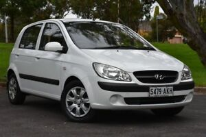 2010 Hyundai Getz TB MY09 S White 4 Speed Automatic Hatchback St Marys Mitcham Area Preview