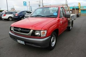 2004 Toyota Hilux RZN147R MY02 Workmate Red 5 Speed Manual Cab Chassis Devonport Devonport Area Preview