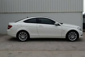 2011 Mercedes-Benz C180 C204 BlueEFFICIENCY 7G-Tronic + White 7 Speed Sports Automatic Coupe