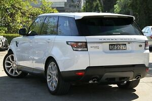 2014 Land Rover Range Rover LW Sport 3.0 TDV6 SE White 8 Speed Automatic Wagon Petersham Marrickville Area Preview