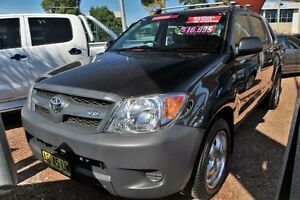2005 Toyota Hilux SR GGN15R Black Manual Utility Minchinbury Blacktown Area Preview