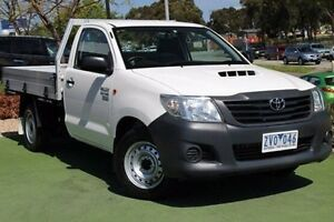 2013 Toyota Hilux KUN16R MY12 Workmate White 5 Speed Manual Cab Chassis Berwick Casey Area Preview