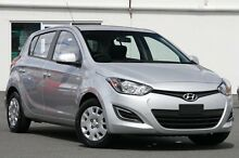 2014 Hyundai i20 PB MY14 Active Silver 4 Speed Automatic Hatchback Southport Gold Coast City Preview