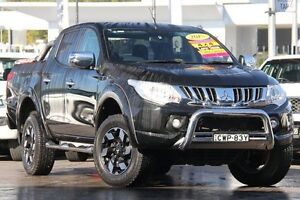 2015 Mitsubishi Triton MQ MY16 Exceed Double Cab Black 5 Speed Sports Automatic Utility Penrith Penrith Area Preview