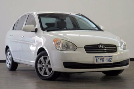 2008 Hyundai Accent MC MY07 S White 4 Speed Automatic Sedan