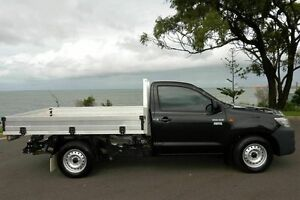 2012 Toyota Hilux TGN16R MY12 Workmate Black 5 Speed Manual Cab Chassis South Gladstone Gladstone City Preview