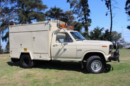 1982 Ford F350 Beige 4 Speed Manual Cab Chassis
