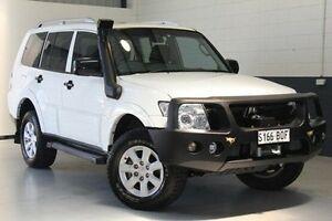 2008 Mitsubishi Pajero NT MY09 GLX White 5 Speed Sports Automatic Wagon Blair Athol Port Adelaide Area Preview
