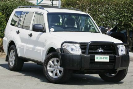 2014 Mitsubishi Pajero NW MY14 GLX White 5 Speed Sports Automatic Wagon