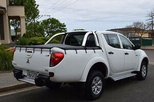 2012 Mitsubishi Triton MN MY12 GL-R Double Cab White 5 Speed Manual Utility St Marys Mitcham Area Preview