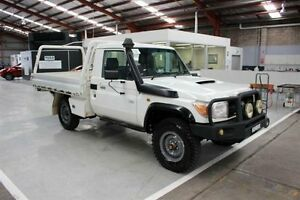 2008 Toyota Landcruiser VDJ79R Workmate White 5 Speed Manual Cab Chassis Maryville Newcastle Area Preview