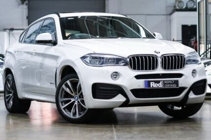 2015 BMW X6 F16 xDrive40d Coupe Steptronic White 8 Speed Sports Automatic Wagon Port Melbourne Port Phillip Preview