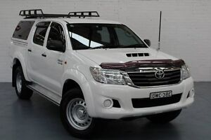 2013 Toyota Hilux KUN26R MY12 SR Double Cab White 4 Speed Automatic Utility Telarah Maitland Area Preview