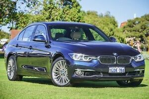 2016 BMW 318I F30 LCI Luxury Line Blue 8 Speed Sports Automatic Sedan Victoria Park Victoria Park Area Preview