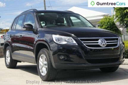 2009 Volkswagen Tiguan 5N MY09 103TDI 4MOTION Black 6 Speed Sports Automatic Wagon