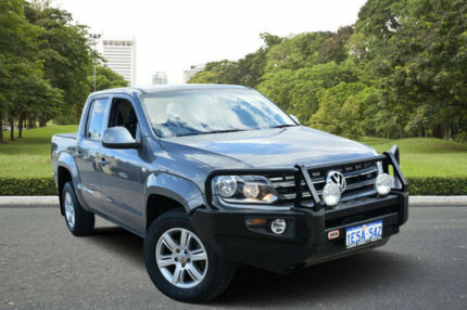 2011 Volkswagen Amarok 2H TDI400 Trendline (4x4) Grey 6 Speed Manual Dual Cab Utility Kewdale Belmont Area Preview