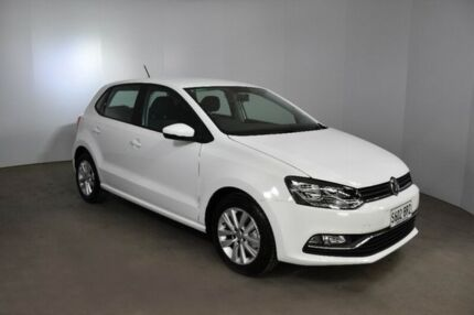 2017 Volkswagen Polo 6R MY17 81TSI DSG Comfortline White 7 Speed Sports Automatic Dual Clutch