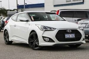 2013 Hyundai Veloster FS3 SR Coupe Turbo White 6 Speed Manual Hatchback Willagee Melville Area Preview
