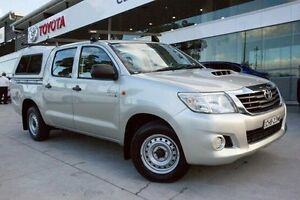2012 Toyota Hilux KUN16R MY12 SR Double Cab Silver 5 Speed Manual Utility Baulkham Hills The Hills District Preview
