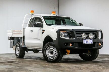 2015 Ford Ranger PX MkII XL Double Cab White 6 Speed Sports Automatic Cab Chassis Welshpool Canning Area Preview