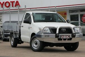 2013 Toyota Hilux TGN16R MY14 Workmate White 5 Speed Manual Cab Chassis Woolloongabba Brisbane South West Preview