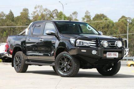 2015 Toyota Hilux GUN126R SR5 Double Cab Black 6 Speed Sports Automatic Utility Springwood Logan Area Preview