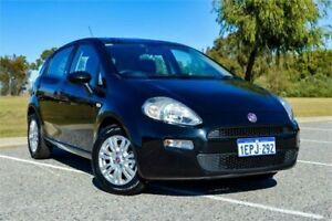 2014 Fiat Punto MY13 Lounge Black 5 Speed Automated Manual Hatchback Rockingham Rockingham Area Preview