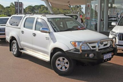 2005 Toyota Hilux GGN25R MY05 SR5 Glacier White 5 Speed Automatic Utility