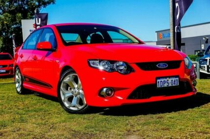 2008 Ford Falcon FG XR6 Turbo Red 6 Speed Sports Automatic Sedan Wangara Wanneroo Area Preview