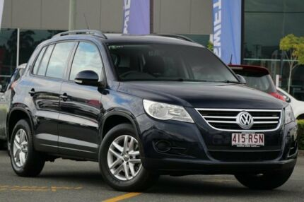 2011 Volkswagen Tiguan 5N MY11 125TSI DSG 4MOTION Blue 7 Speed Sports Automatic Dual Clutch Wagon