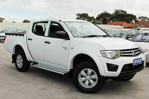 2012 Mitsubishi Triton MN MY12 GL-R Double Cab White 4 Speed Automatic Utility Craigieburn Hume Area Preview