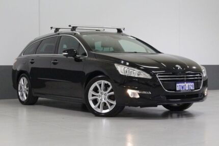 2012 Peugeot 508 Allure HDI Touring Black 6 Speed Automatic Wagon St James Victoria Park Area Preview