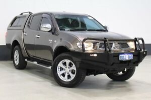 2010 Mitsubishi Triton MN MY10 GLX-R (4x4) Grey 5 Speed Automatic 4x4 Dual Cab Utility Bentley Canning Area Preview